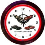 Neonetics Corvette C5 Neon Wall Clock